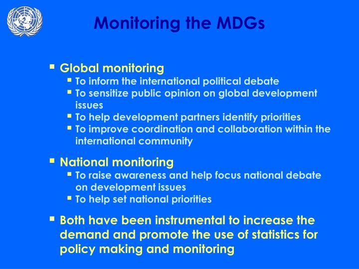 Monitoring the mdgs