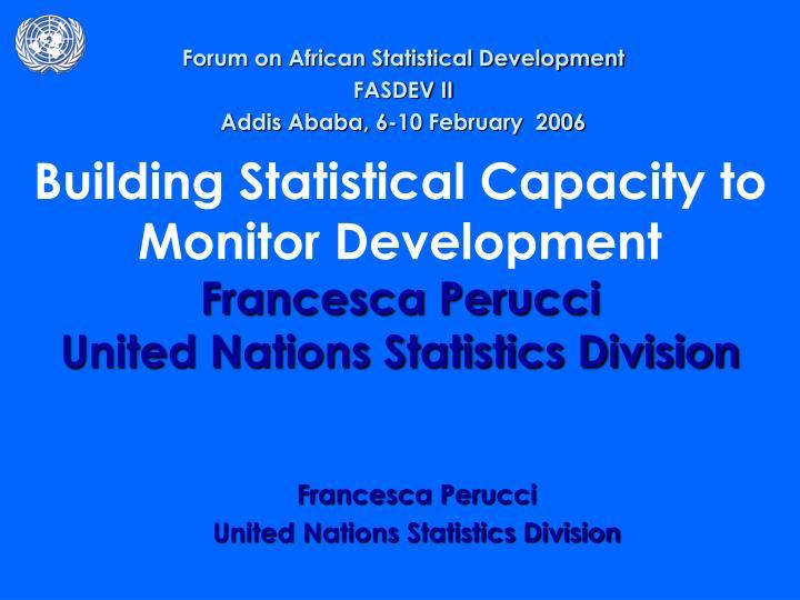 Forum on African Statistical Development