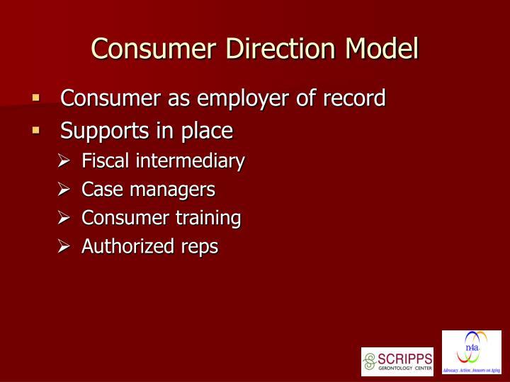Consumer Direction Model