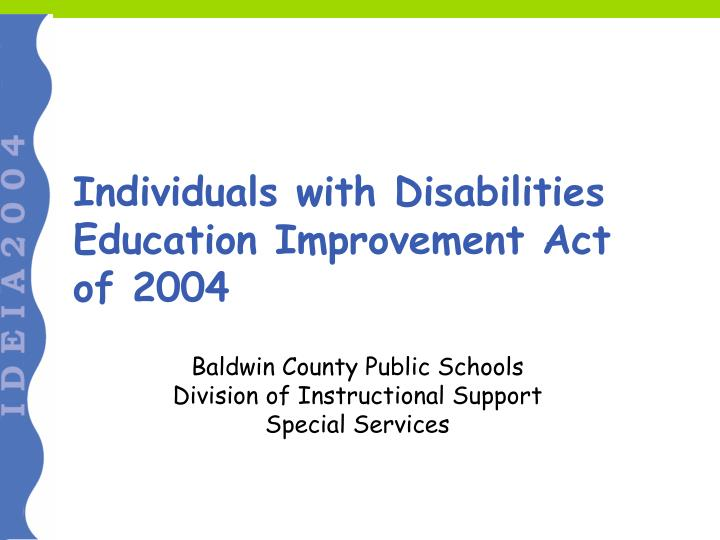 individuals with disabilities education improvement act of 2004 n.