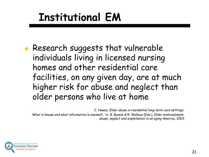 Institutional EM