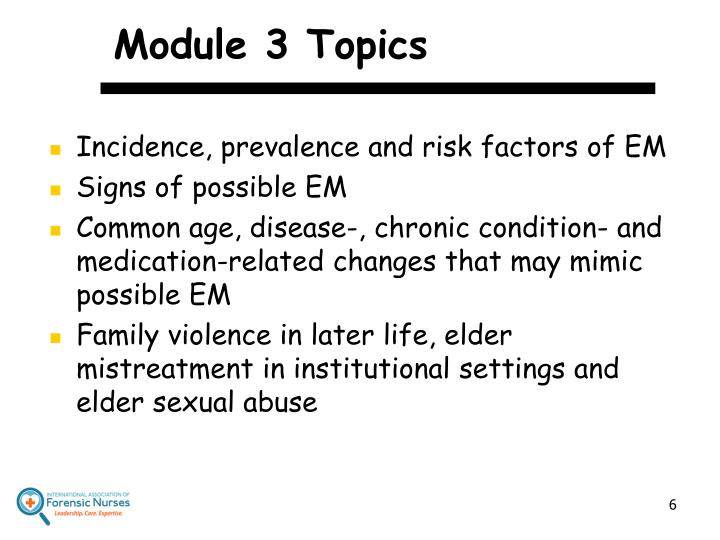 Module 3 Topics