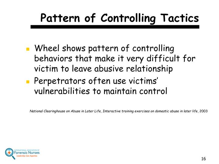Pattern of Controlling Tactics
