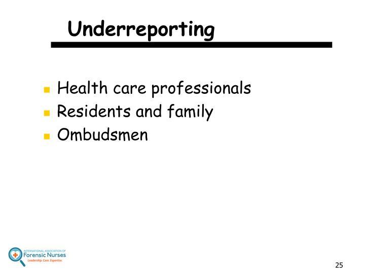 Underreporting