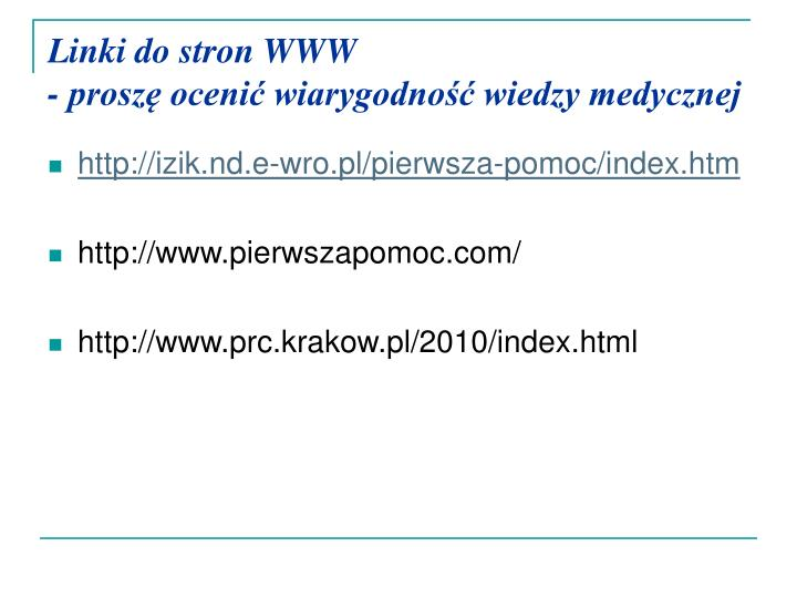 Linki do stron WWW