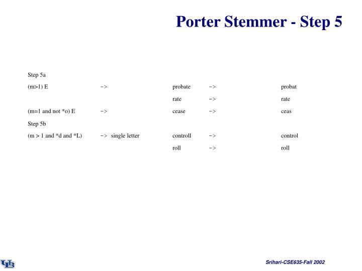 Porter Stemmer - Step 5