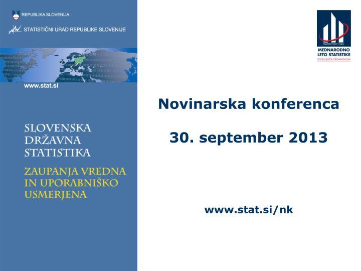 Novinarska konferenca 30 september 2013 www stat si nk
