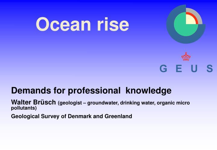 Ocean rise