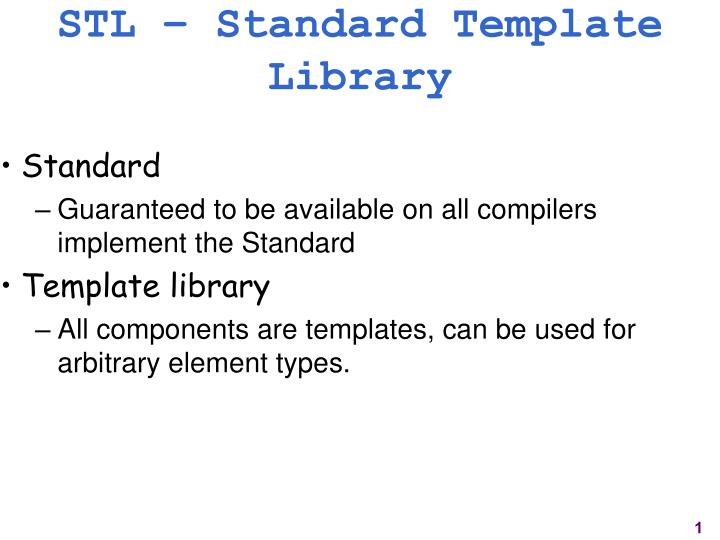 Ppt stl standard template library powerpoint presentation id stl standard template library toneelgroepblik Choice Image
