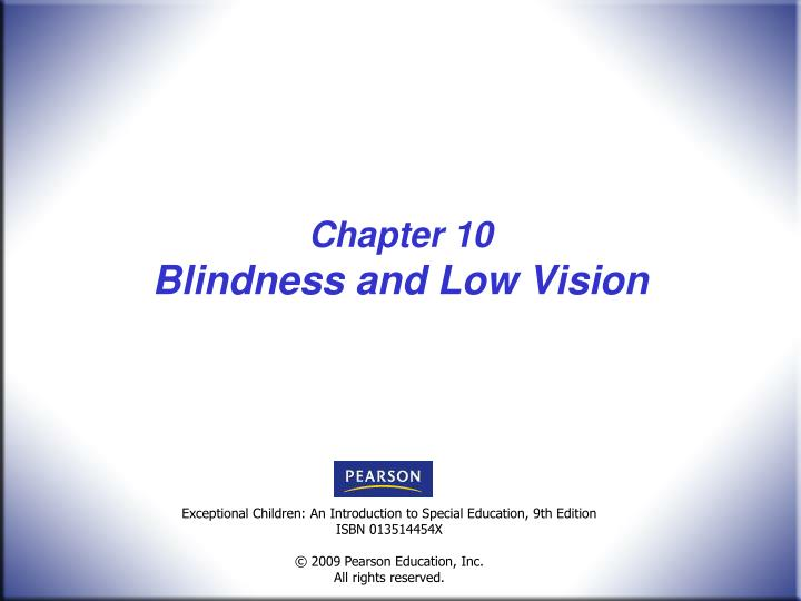 chapter 10 blindness and low vision n.