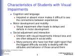 characteristics of students with visual impairments