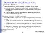 definitions of visual impairment