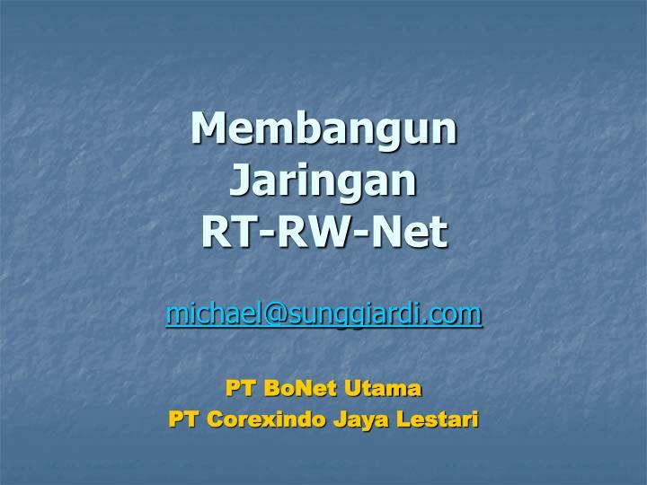 Membangun jaringan rt rw net