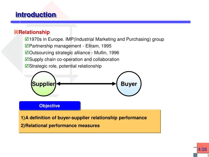 buyer supplier relationship in jit environment Jit or just in time supplies was one of the earliest methods employed by companies to do away with maintaining inventory of raw materials supplier and buyer relationship becomes the basis on which such collaborative models work.