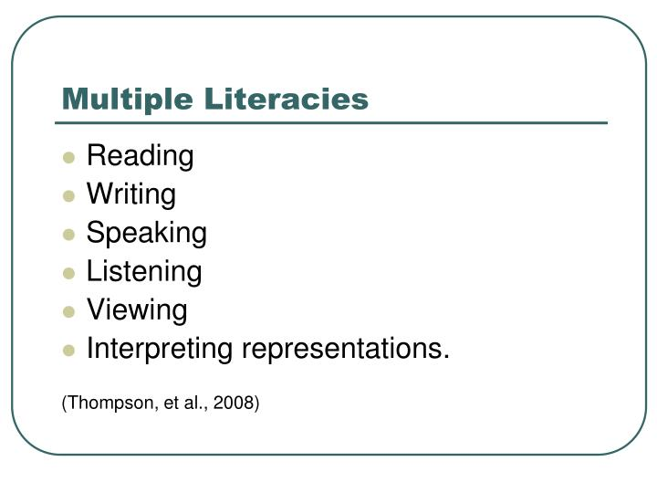 multiple literacies Category: multiple literacies knowing the difference between digital skills and digital literacies and teaching both may 15, 2018 may 15, 2018 leave a comment hertz-newman, jenny id bali, m (2016) knowing the difference between digital skills and digital literacies and teaching both literacy today.