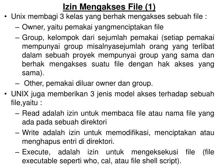 Izin mengakses file 1