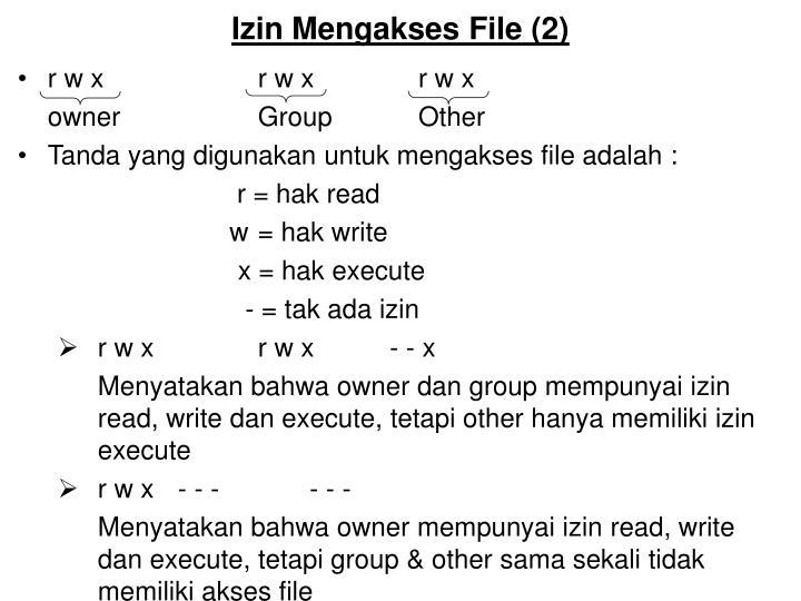 Izin mengakses file 2