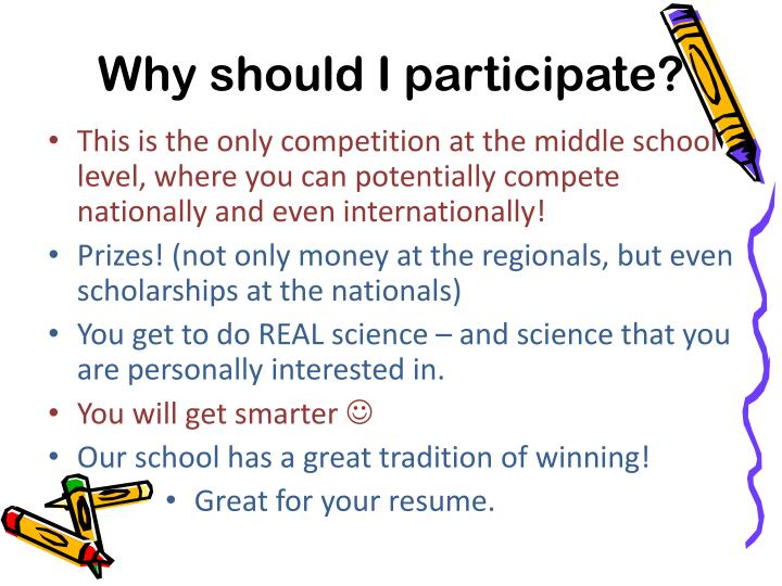 Why should I participate?