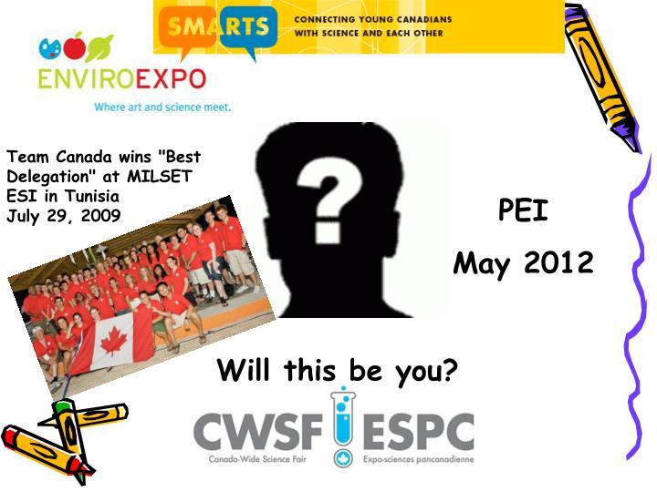 """Team Canada wins """"Best Delegation"""" at MILSET ESI in Tunisia"""