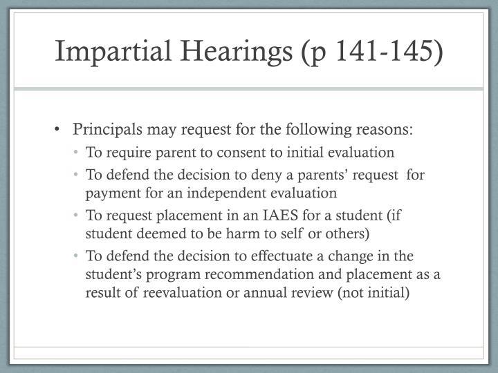 Impartial Hearings (