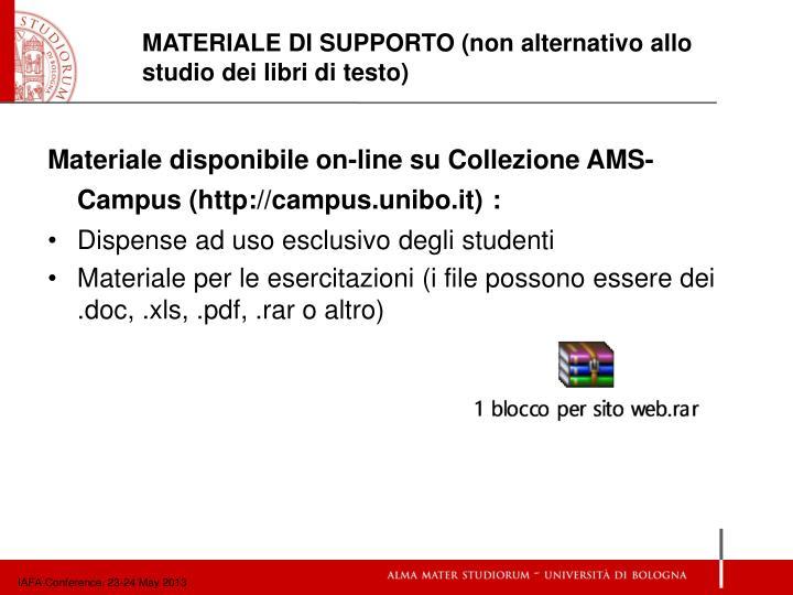Materiale disponibile on-line su Collezione AMS-Campus (http://campus.unibo.it)