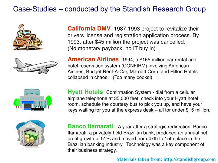 Case-Studies – conducted by the Standish Research Group