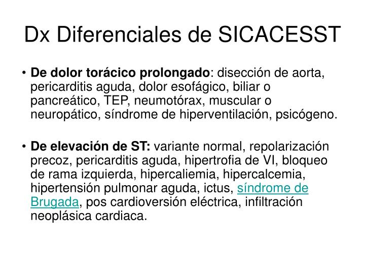 Dx Diferenciales de SICACESST
