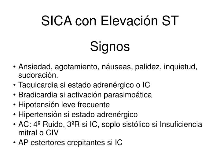 SICA con Elevación ST