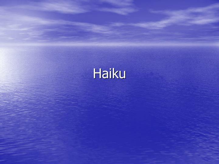 haiku n.