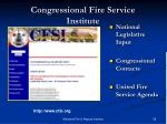 congressional fire service institute
