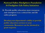 national fallen firefighters foundation 16 firefighter life safety initiatives27