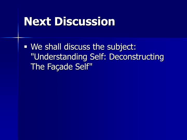 Next Discussion