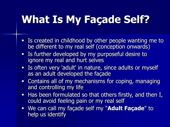 What Is My Façade Self?