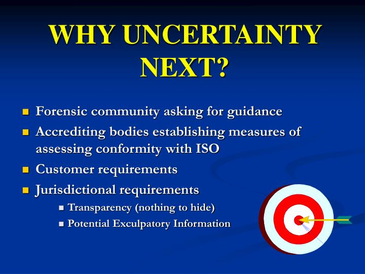 WHY UNCERTAINTY NEXT?