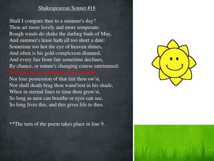 Shakespearean Sonnet #18