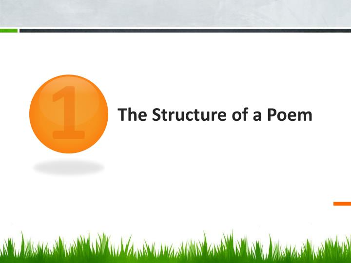 The structure of a poem
