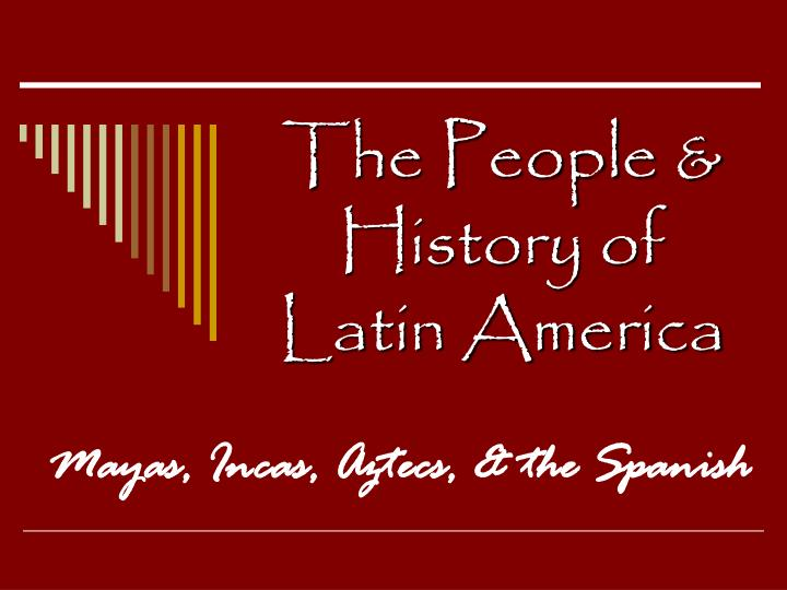 the people history of latin america n.