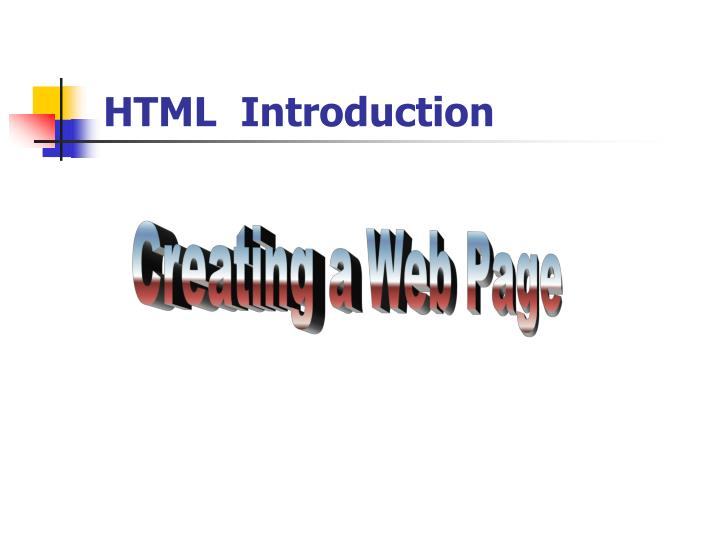 html introduction n.