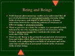 being and beings