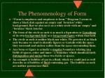 the phenomenology of form