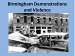 birmingham demonstrations and violence