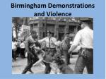 birmingham demonstrations and violence1