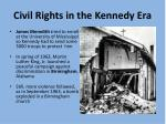 civil rights in the kennedy era