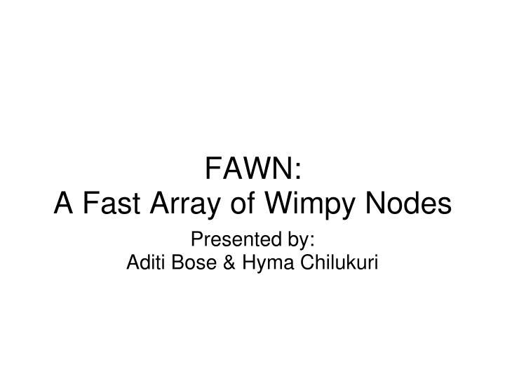 Presented by aditi bose hyma chilukuri
