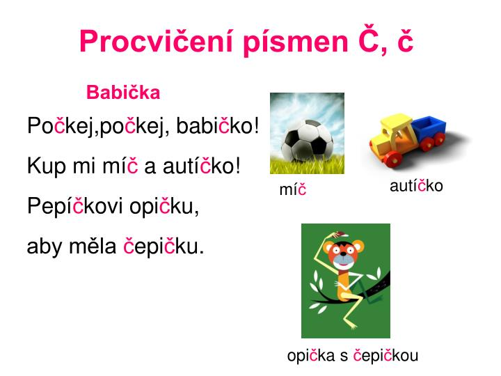 PPT - Procvičení písmen Č, č PowerPoint Presentation, free download -  ID:3514246