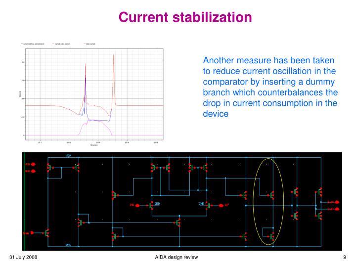 Current stabilization