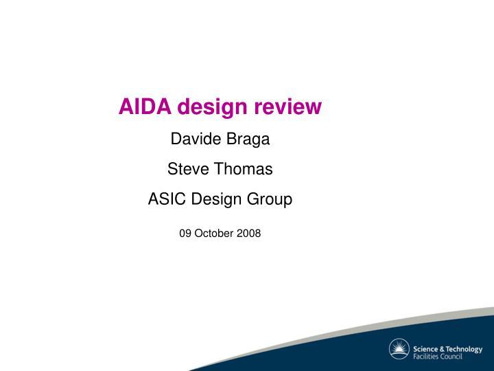 AIDA design review