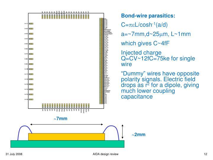 Bond-wire parasitics: