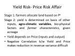 yield risk price risk affair