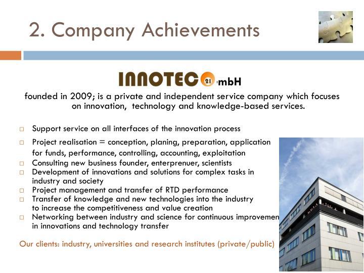 2. Company Achievements